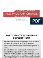 System Development and Change Activities