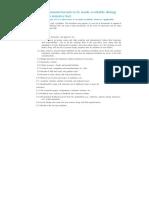 Nba List of Documents