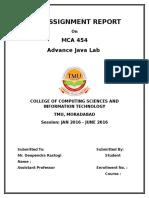 MCA 454 Java Lab Assignment 1