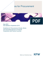 KfW Procurement Guidelines