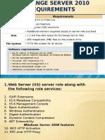 Exchange Server 2010 requirements.pptx