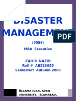 29962975 Semester III Assgn I Disaster Management