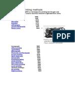 history of printing methods