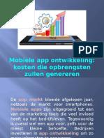Mobiele app ontwikkeling