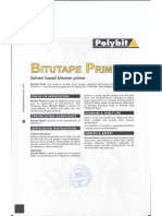 Application Instruction & Data Sheet - Bitutape Primer