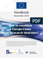 Handbook How to Establish an EU China Joint Research Structure