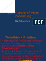 the history of print publishing