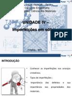 Unidade IV - Imperfeições Em Sólidos