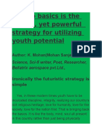Back to Basics is the Simple Yet Effective Strategy for Utilising Youth Potential Poster