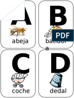 Abecedario Flashcards Español