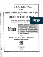 BACHAREIS da FACULDADE DE DIRITO DO RECIFE 1828 - 1931 (1)