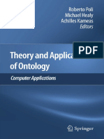 Theory and Applications of Ontology