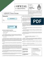 Boletín Oficial de la República Argentina, Número 33.294. 12 de enero de 2016