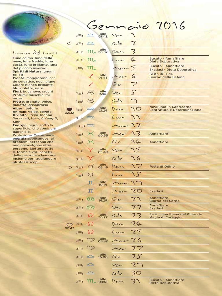 Calendario lunare taglio capelli divinazioni