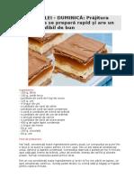 REŢETA ZILEI_Prăjitura Caramelita