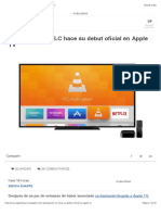 El Reproductor VLC Hace Su Debut Oficial en Apple TV