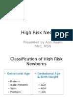 High Risk Neonates