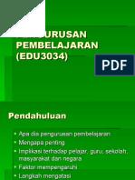 Pengurusan Pembelajaran (Edu3034)