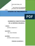 Elementos Constitutivos de La Materia Organica
