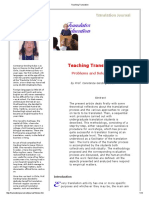 Teaching Translation - Problems and Solutions