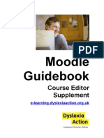 Moodle Guidebook Editor Supplement-DRAFT-January 10