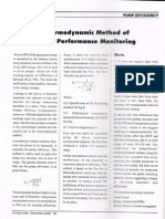 Pump Performance Monitoring using Thermodynamic Method