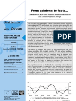 From opinions to facts…Links between short-term business statistics and business and consumer opinion surveys
