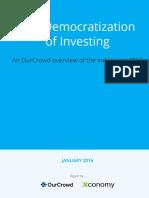 Democratization of Investing OurCrowd Xconomy Report 2015 (1)