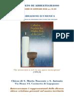 Celebrazione Ecumenica 20 Gennaio 16