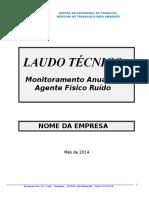 Laudo 2014 - Ruido -Modelo