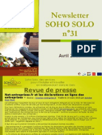 Newsletter Soho Solo n31 Avril-2010