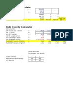 Wc & Bulk Density