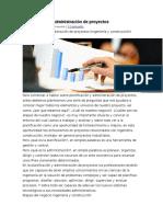 Planificación y Administración de Proyectos