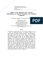 Effect of the Thickness-wise Location Delamination on Natural Frequency for Laminate Plate