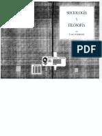 177035853 Sociologia y Filosofia Emile Durkheim PDF