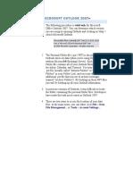 Microsoft Outlook 2007 backup steps