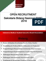 Open Recruitment Sekretaris Bidang