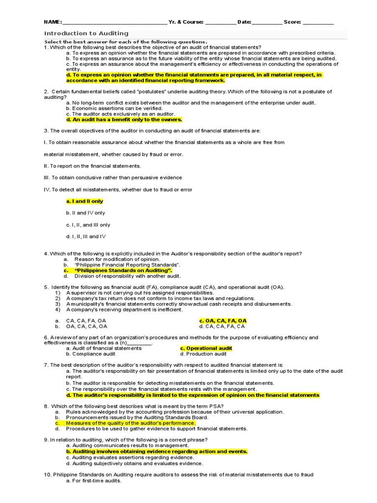 1 | Audit | Financial Audit