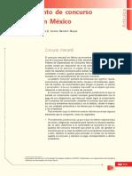 Procedimiento de Concurso Mercantil en México