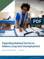 Expanding National Service to Address Long-term Unemployment