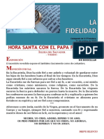 HORA SANTA CON EL PAPA. La Familia, La Fidelidad (29)