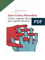 Curso Urgente de Politica Juan Carlos Monedero
