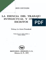Joseph Dietzgen - La Esencia Del Trabajo Intelectual Y Otros Escritos2