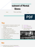 the treatment of mental illness then and now