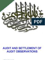 Audit & Settlement of Audit Objections (mr.ifftikhar ahmed).ppt