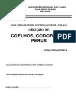 Ficha Pedagógica - Coelhos, Codornas e Perus - Pr