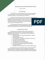 University of Louisville Board of Trustees Motion 1-14-16