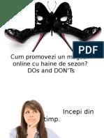 Dragos SMEU Cum Promovezi Un Magazin Online Cu Haine de Sezon.DOs and DONTs 2012.06.29 Orange Concept Store