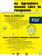Cartel Talleres Transgenicos en Vitoria-Gasteiz