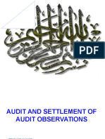 Audit & Settlement of Audit Objections (Mr.ifftikhar Ahmed)